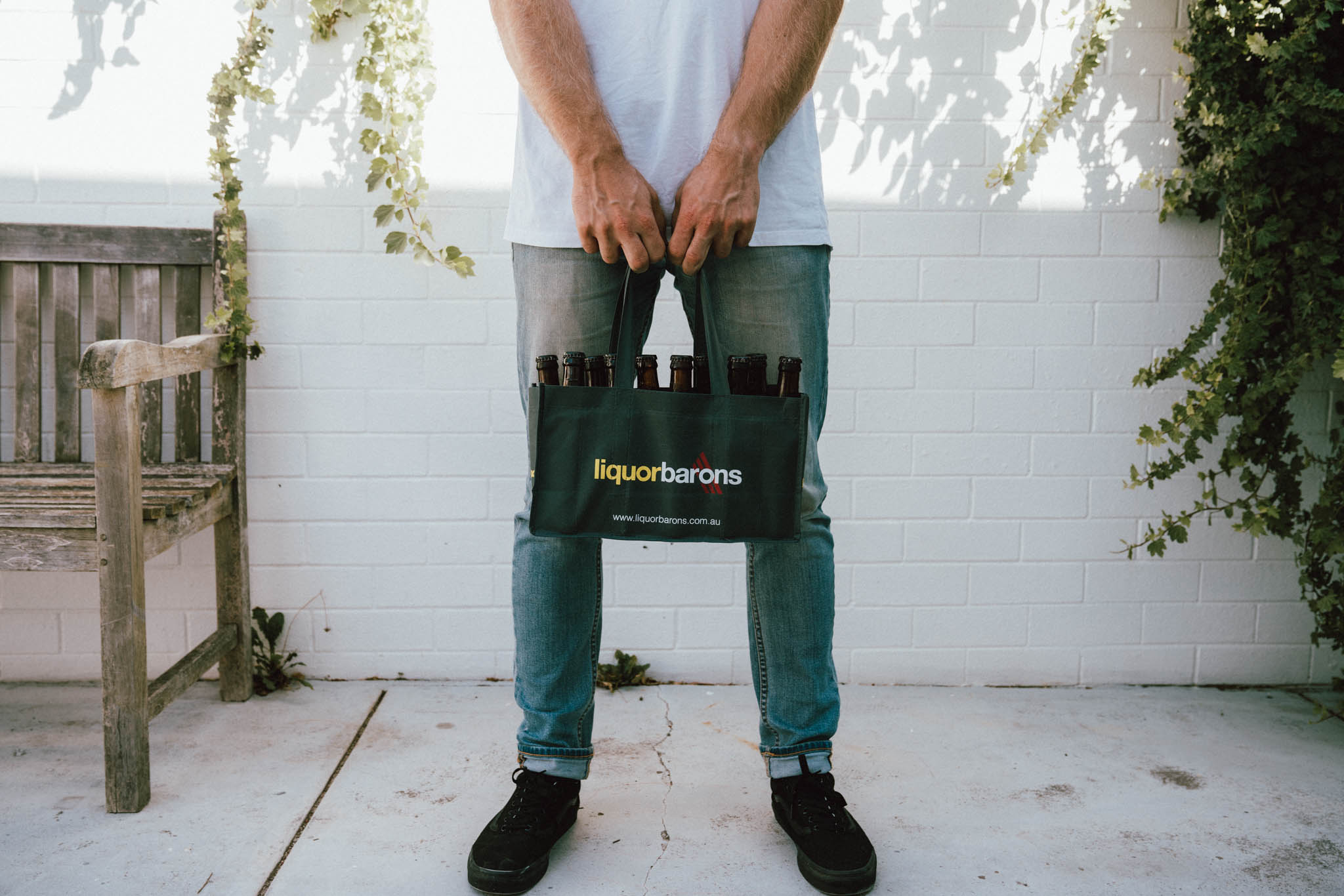 Branded reusable bags to hold beer and wine
